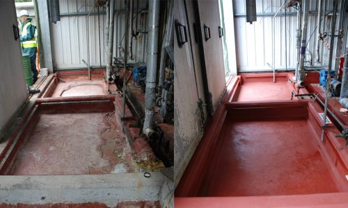 Chemical bund refurb Ucrete