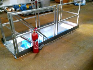 Mild steel mezzanine - begging for resin finish!